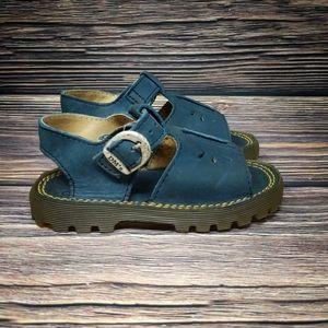 Dr. Martens Little Boys Girls Blue Leather Sandals